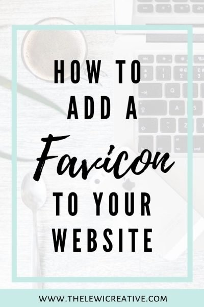add a favicon to your website