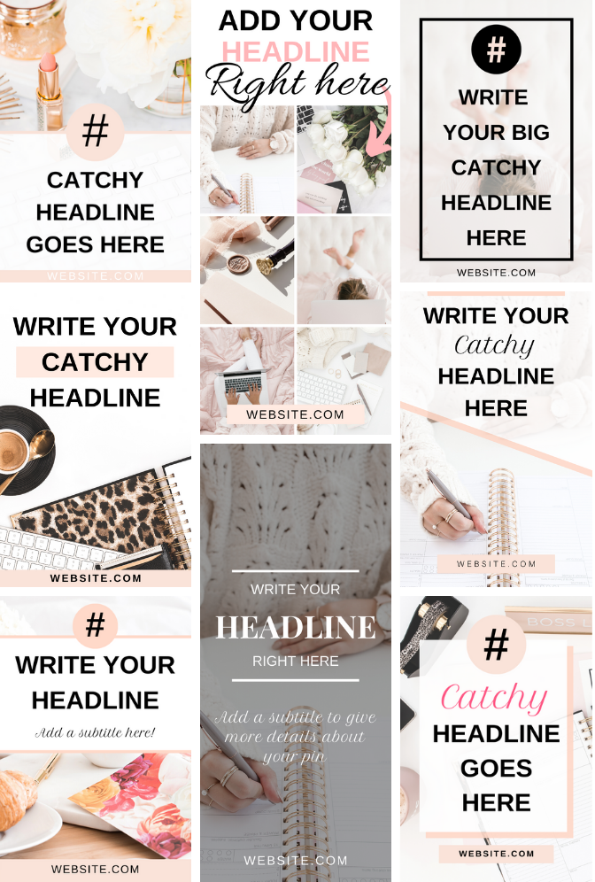 VIRAL pin templates for bloggers