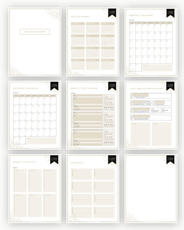 printable planner for bloggers