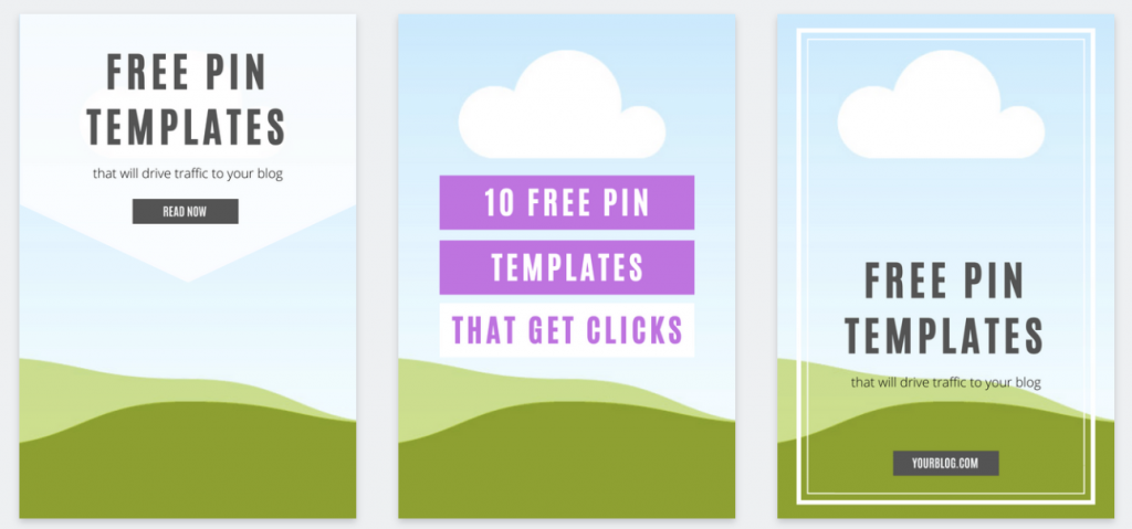 free pinterest graphic templates by xomisse