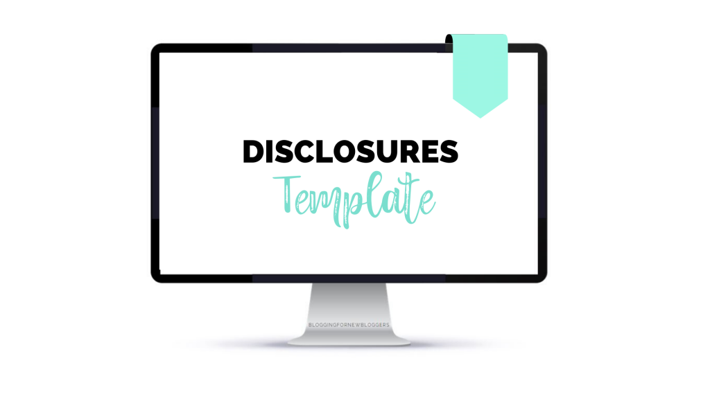 affiliate disclosure template