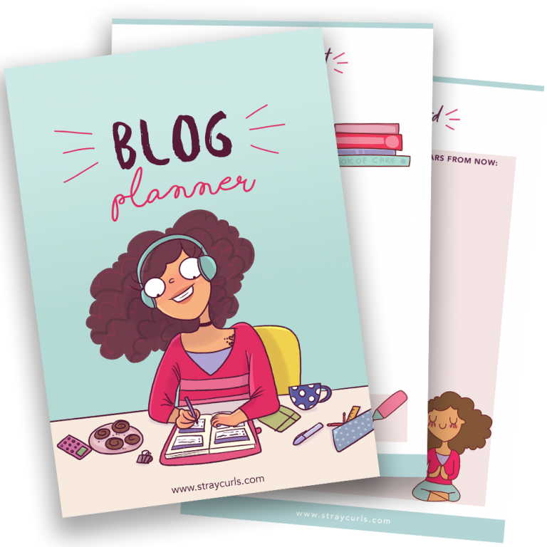 printable blog planner by stray curls