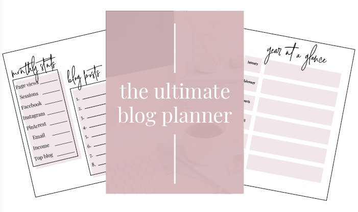 ultimate blog planner by the inspired boss