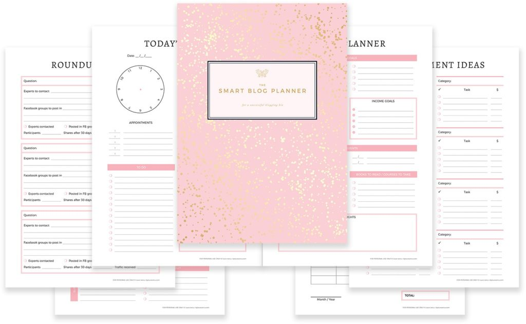 printable planners for bloggers