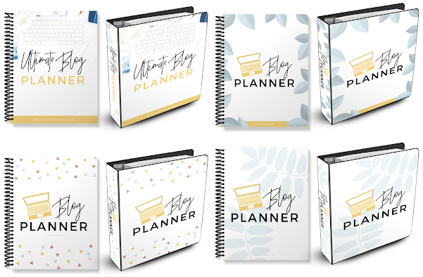yellow and blue ultimate blog planner