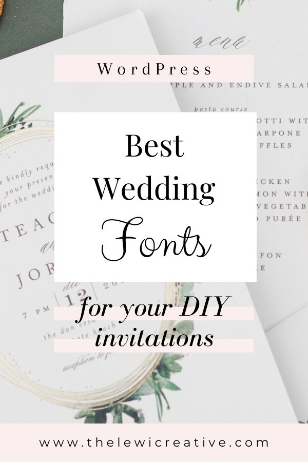 best wedding fonts for diy invitations