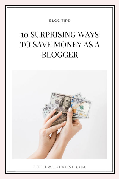 ways to save money as a blogger