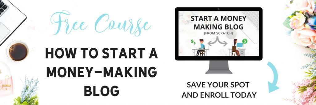 free blogging course how to start a money-making blog