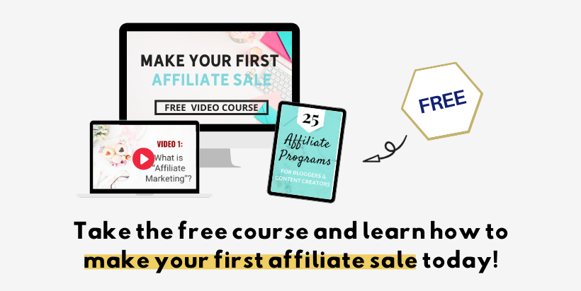 free blogging course: make your first affiliate sale