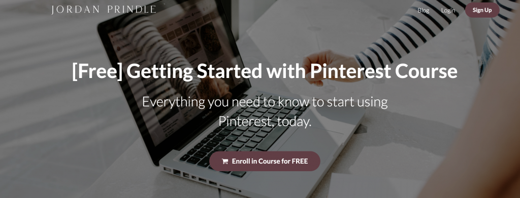 getting started with pinterest course