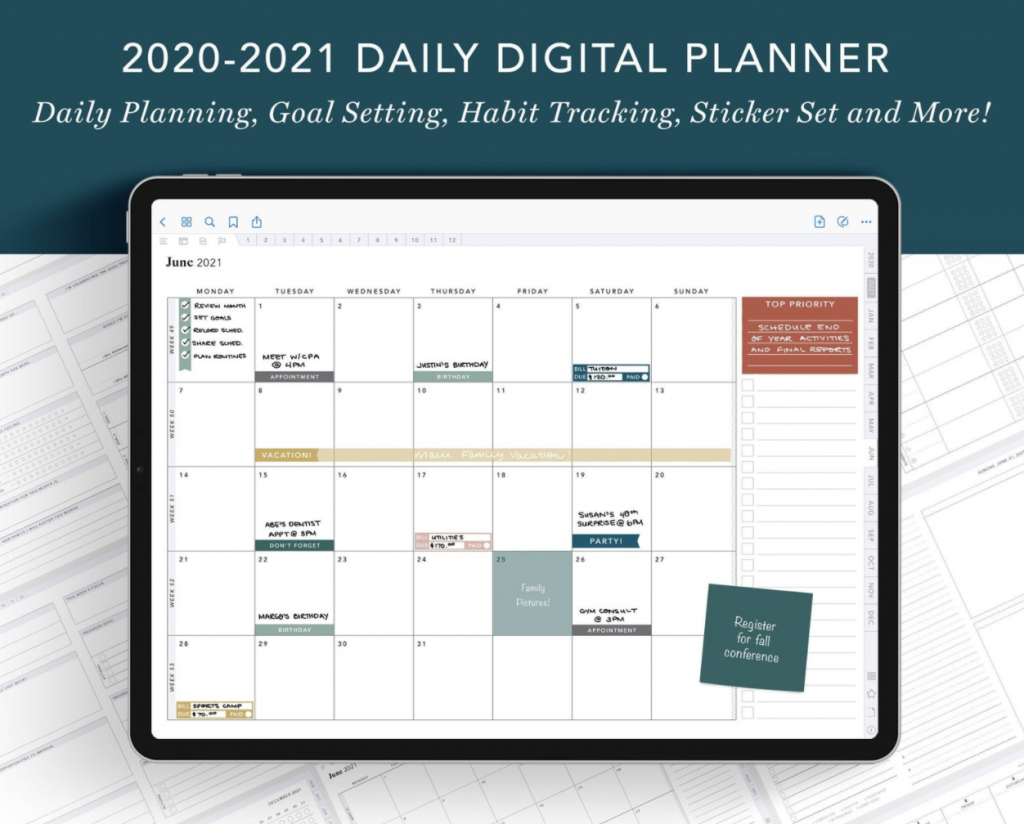 daily digital planner - student gift ideas