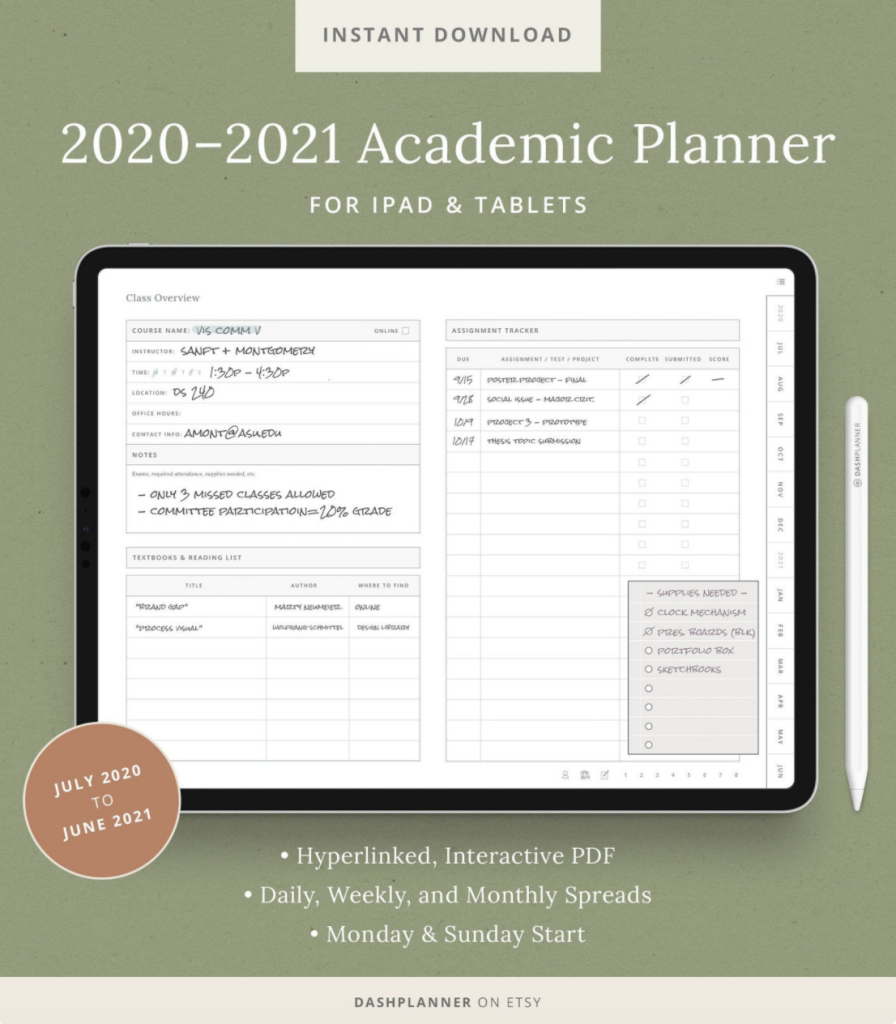 digital planner - gift ideas for students