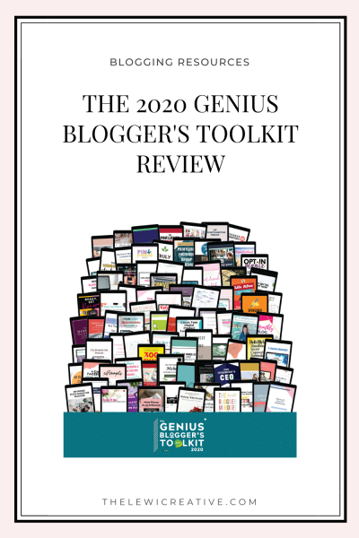 genius blogger's toolkit 2020 review