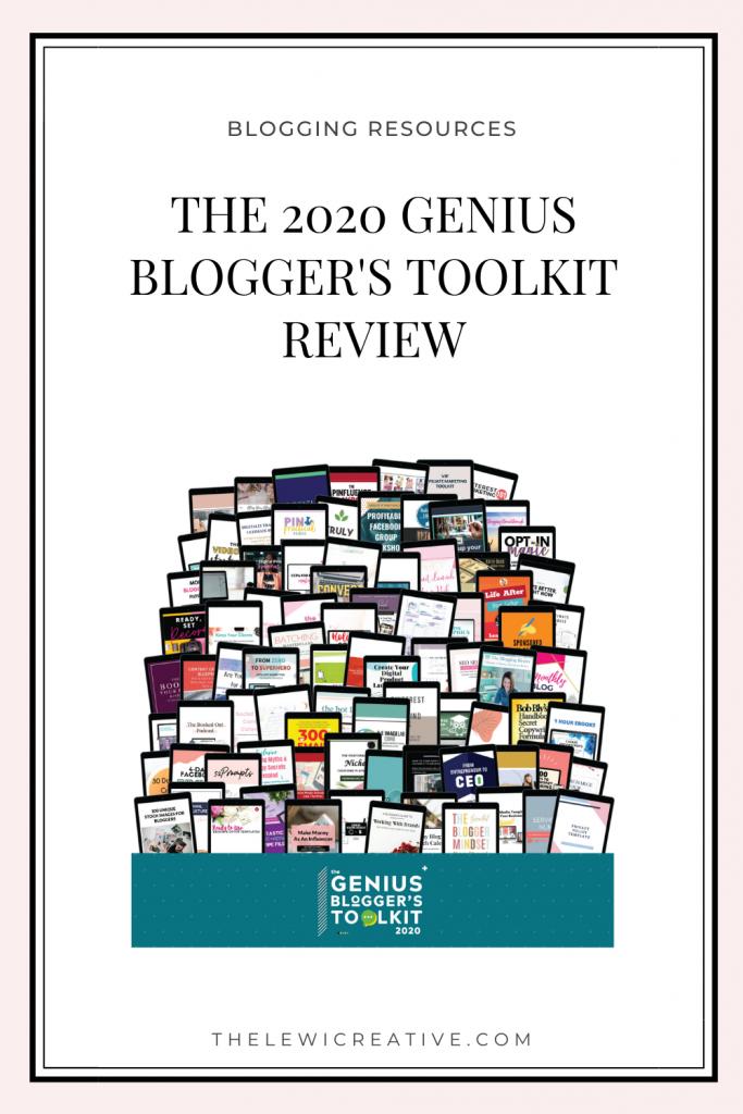 genius blogger's toolkit 2020 review