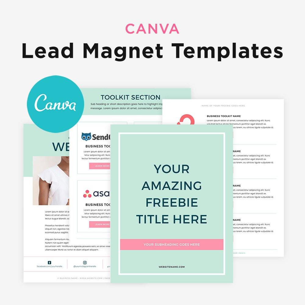 bluchic canva lead magnet templates