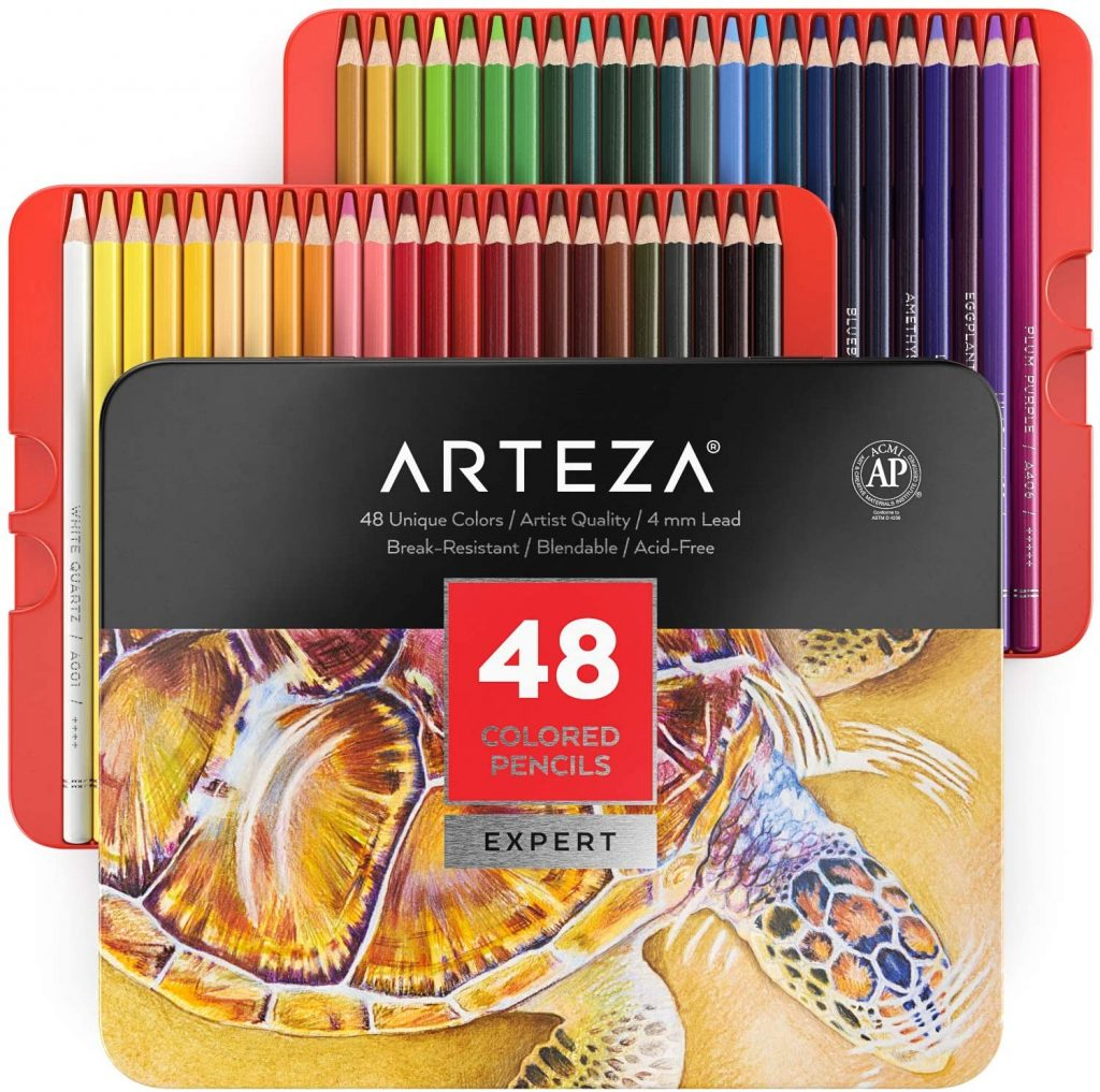 colored pencil, creative gift for crafters