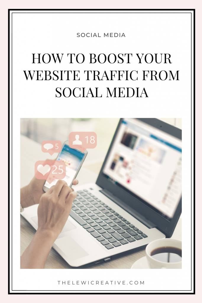 how to boost your website traffic from social media