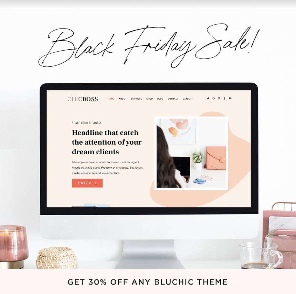 black friday sale bluchic wordpress themes