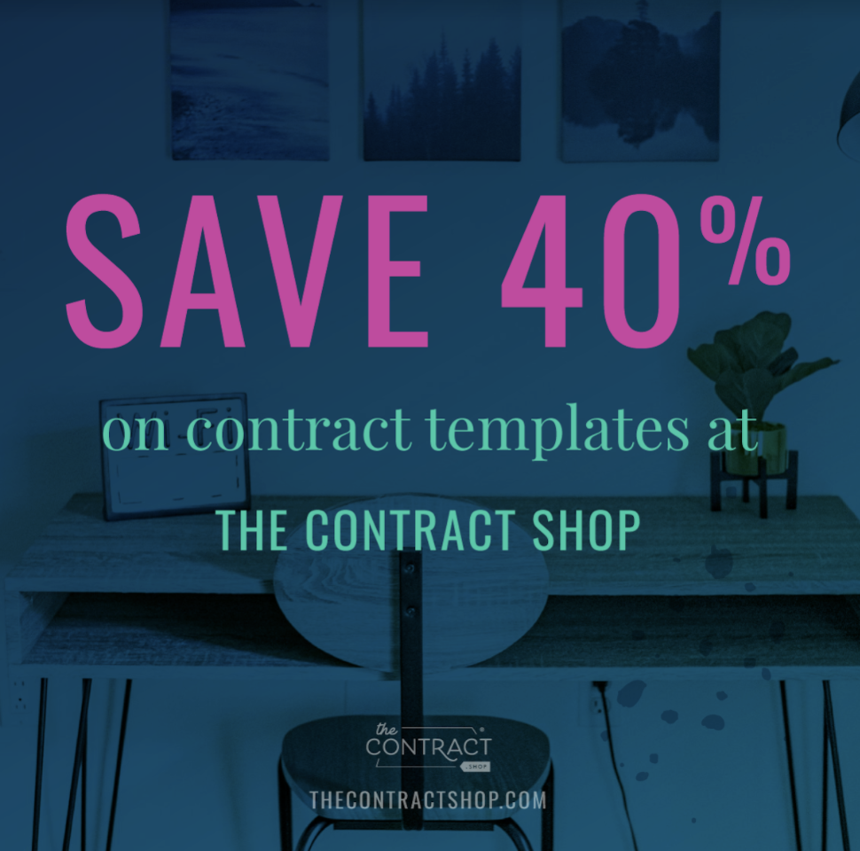 black friday promo the contract shop website legal templates