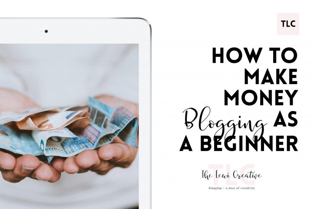 make money blogging as a beginner